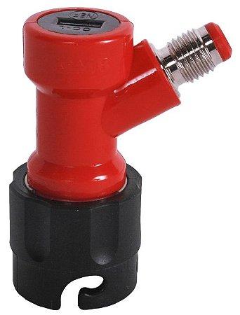 Conector Pin Lock Líquido OUT Curto (vermelho e preto) - Rosca