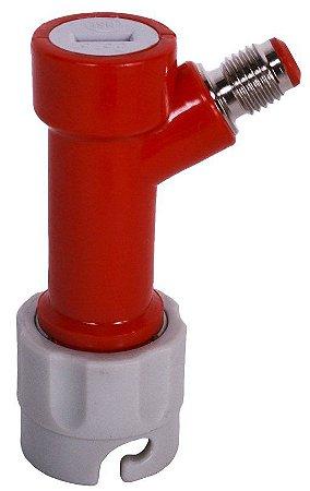 Conector Pin Lock Gás (vermelho e cinza) - Rosca