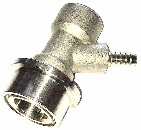 """Conector Inox Ball Lock Gas 1/4"""""""
