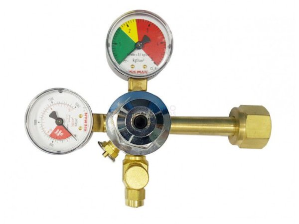 Regulador de Chopp 1 Saída com 2 Manômetros CO2+N2