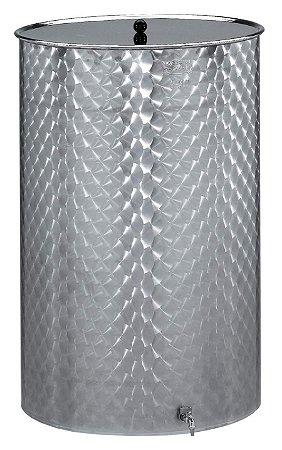Panela Inox com tampa e torneira 75l