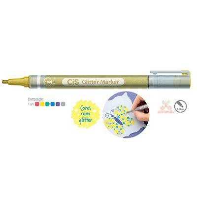Marcador Artístico Glitter CIS 6 cores