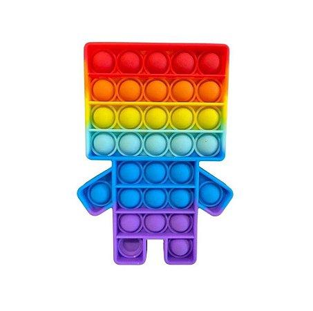 Pop it Fidget Boy Rainbow