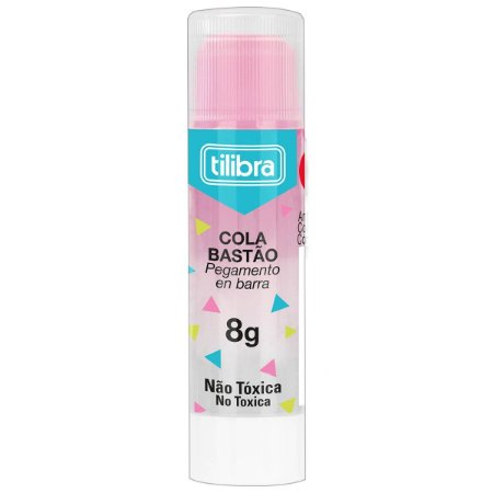 Cola em bastão 8g Transparente Colorida Tilibra