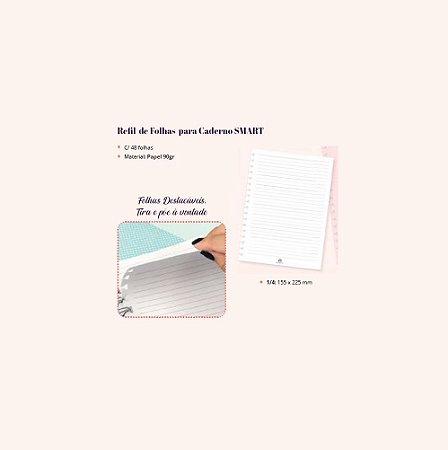Refil de Folhas Para Caderno Smart Colegial 48 Fls  Dac