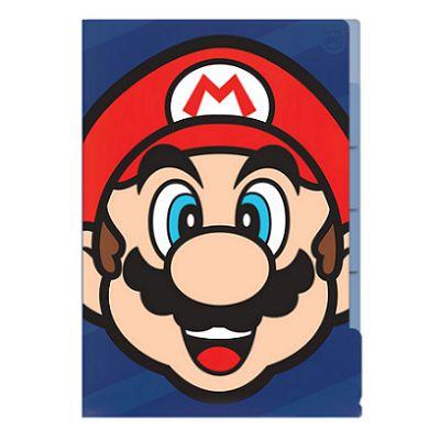 Pasta L Mário Bros 5 Divisórias DAC
