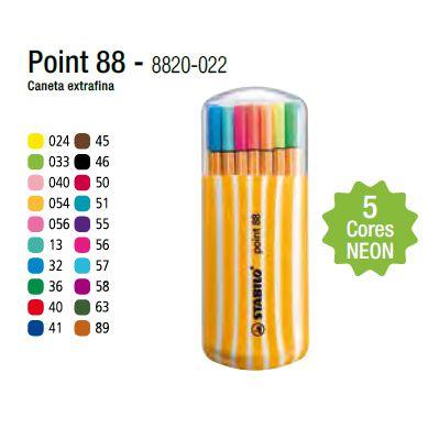 Estojo Stabilo Point 0,4 mm c/ 20 cores