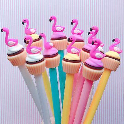 Caneta Gel Flamingo Muffin