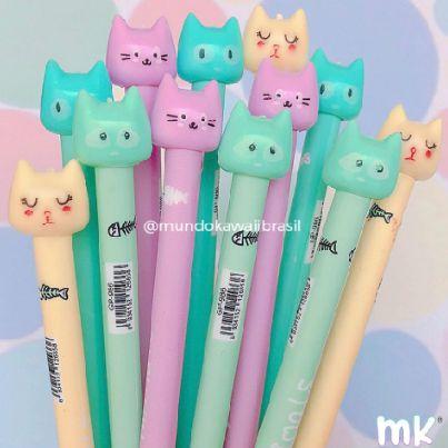 Canetas Cats Pastel