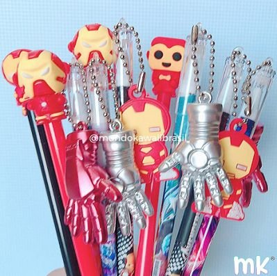Kit Canetas Sortidas Iron Man 10 un