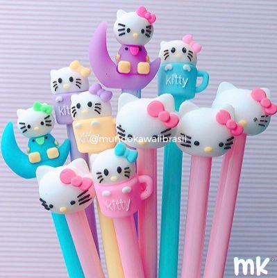 Kit Canetas Sortidas Hello Kitty 10 un