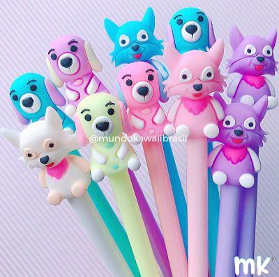 Kit Canetas Sortidas Dog and Fox 10 un