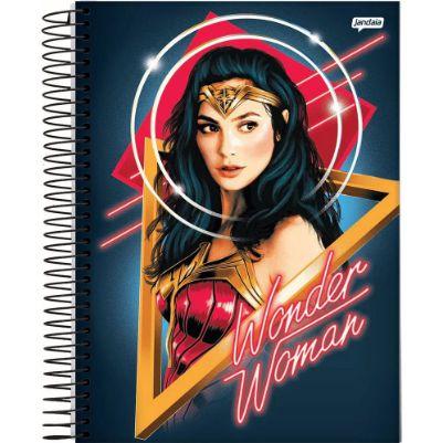 Caderno Colegial Capa Dura Mulher Maravilha 1 Matéria 80 folhas