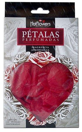 PETALAS DE ROSA VERMELHA PERFUMADA - 100 UNIDADES HOT FLOWERS
