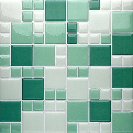 Revestimento Autoadesivo Resinado - Squares Soft Green