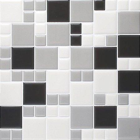Revestimento Autoadesivo Resinado - Squares Shades