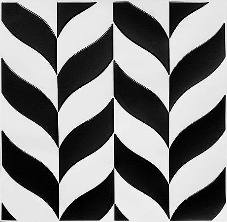 Revestimento Autoadesivo Resinado - Nature Black & White