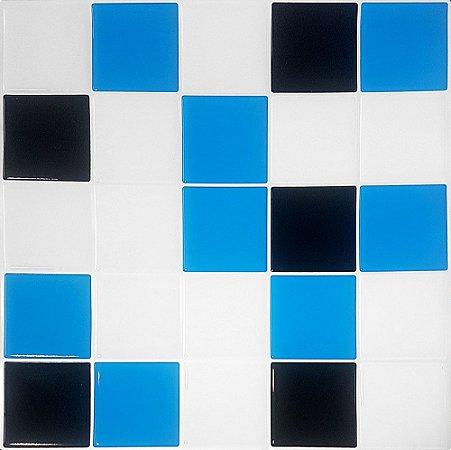 Revestimento Autoadesivo Resinado - Squares Tricolor