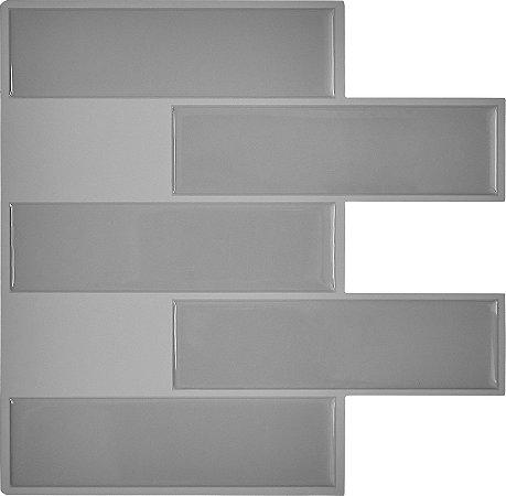 Revestimento Autoadesivo Resinado - Subway Gray Tiles