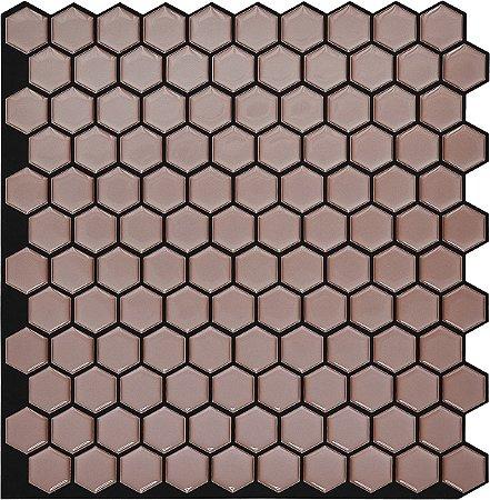 Revestimento Autoadesivo Resinado - BEE Black Rosé Gold