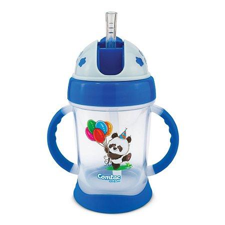 Copo De Treinamento Com Canudo Happy Panda Comtac Kids 4370