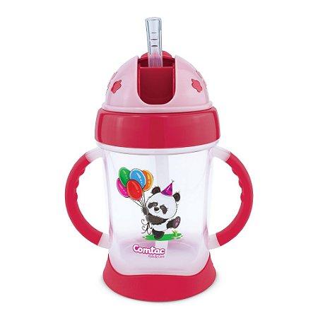 Copo De Treinamento Com Canudo Happy Panda Comtac Kids 4369