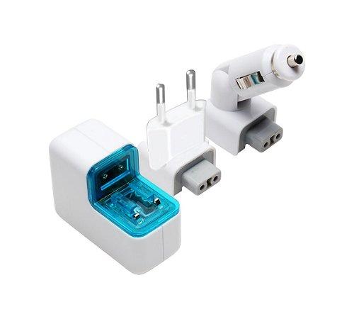 Carregador USB Veicular E Residencial Comtac 9114