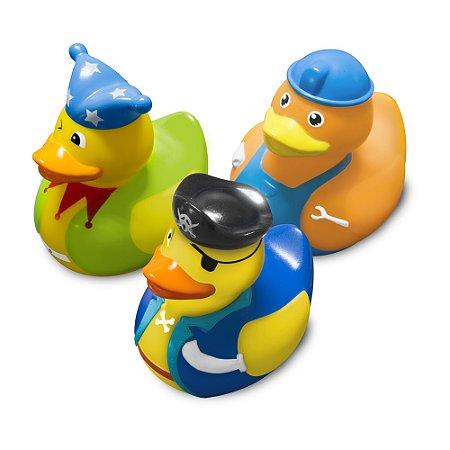 """Brinquedos para o banho - Série Patos Fantasia """"Boy"""" - Comtac Kids - 4088"""