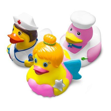 """Brinquedos para o banho - Série Patos Fantasia """"Girl"""" - Comtac Kids - 4089"""
