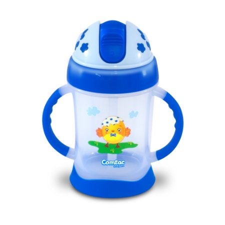 """Copo de Treinamento com Canudo """"Chickboy"""" - BPA Free Comtac Kids - 54114072"""
