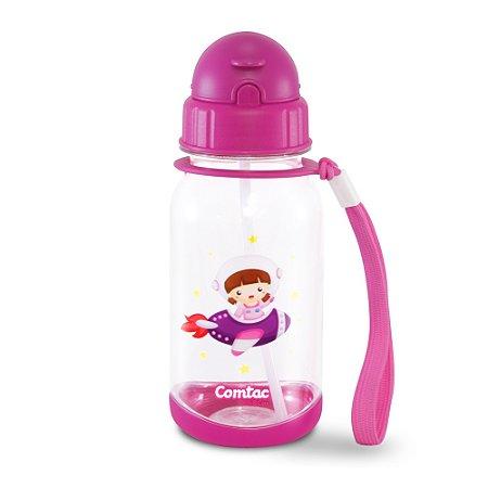 "Copo Tritan com Canudo ""Tampa Flip-Top"" Astrogirl - BPA Free Comtac Kids - 54114067"