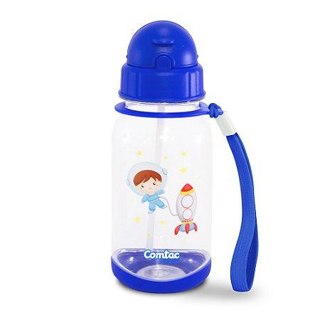 """Copo Plástico com Canudo """"Tampa Flip-Top"""" Astroboy - Comtac Kids - 4069"""