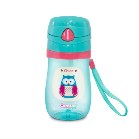 Copo Infantil Com Canudo Tritan Chloe Comtac Kids 4056