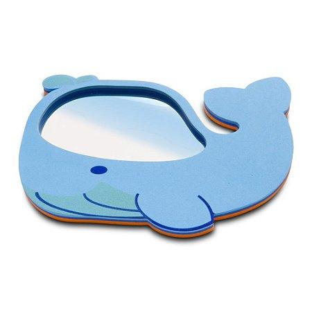 Espelho Para Banho Baleia Em Acrílico E EVA Comtac Kids 4103