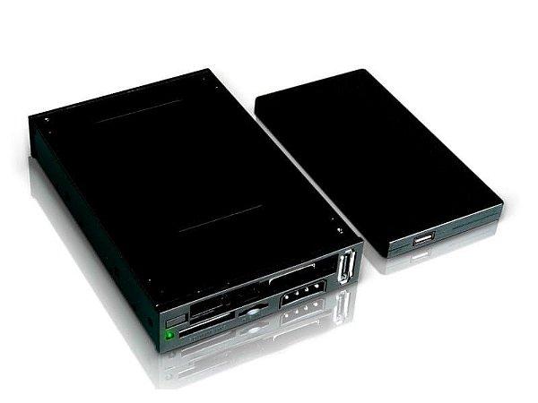 Gaveta USB HD Sata 2,5 mais Leitor de Cartões Comtac 9156