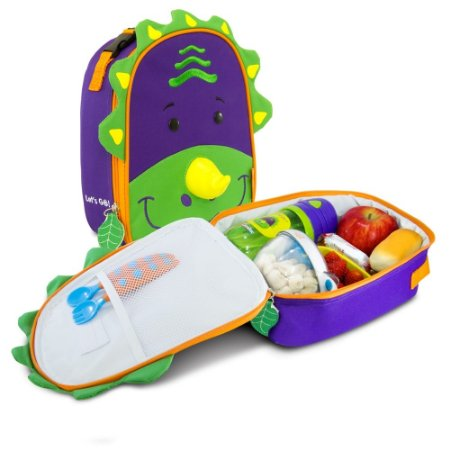 Lancheira Térmica Infantil Let's Go! Dinossauro - Dereck - Comtac Kids - 4046