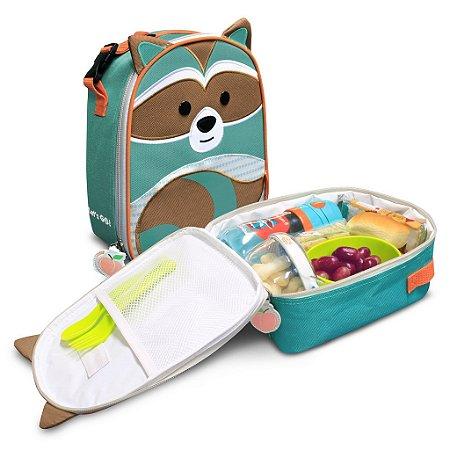 Lancheira Termica Infantil Let s Go - Guaxinim - Morgan  - Comtac Kids - 4158