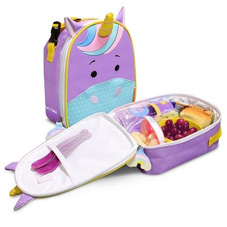 Lancheira Térmica Infantil Lets Go Unicórnio Violet 4164