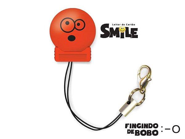Leitor de Cartão Smile - Fingindo de Bobo - Cor Vermelho - COMTAC - 9204