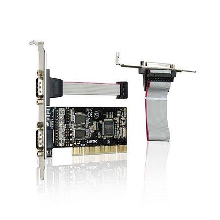 Placa PCI 2 Portas Seriais E 1 Porta Paralela Comtac 9017