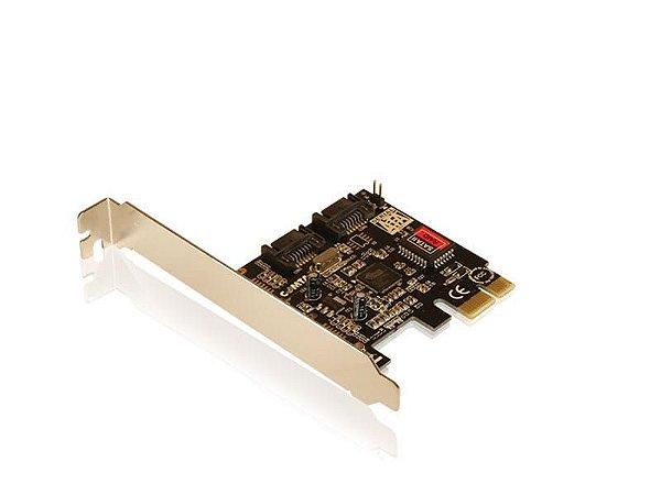 Placa PCI Express 2 portas Sata II - COMTAC - 9047