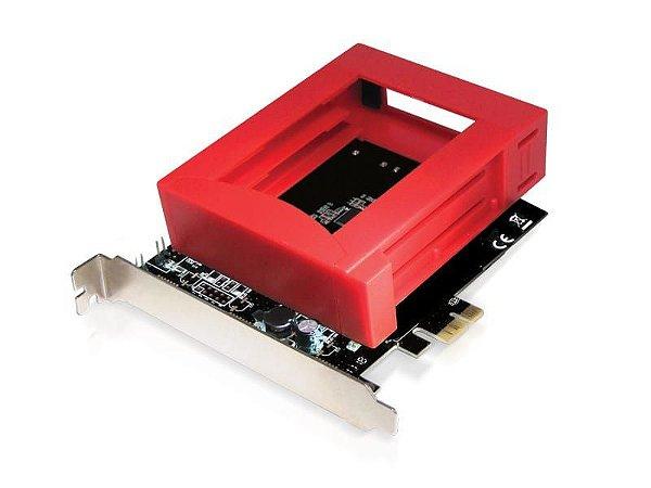 Placa PCI Express - 2 Portas SATA III / RAID com Suporte para 2 HDDs de 2.5 - COMTAC - 9197