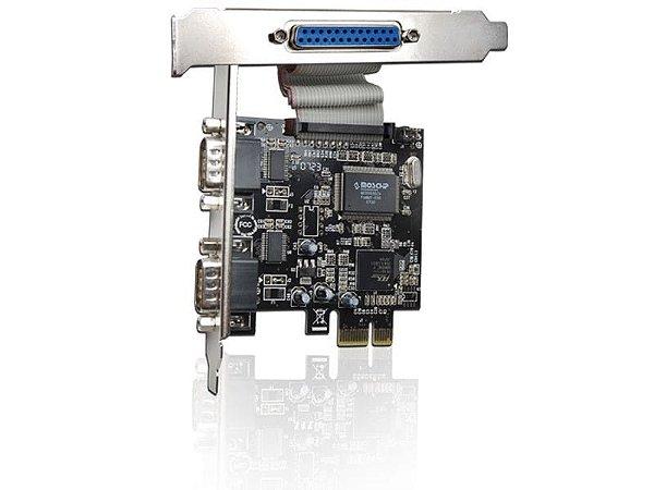 Placa PCI Express - 2 portas seriais e 1 porta paralela - COMTAC - 9050