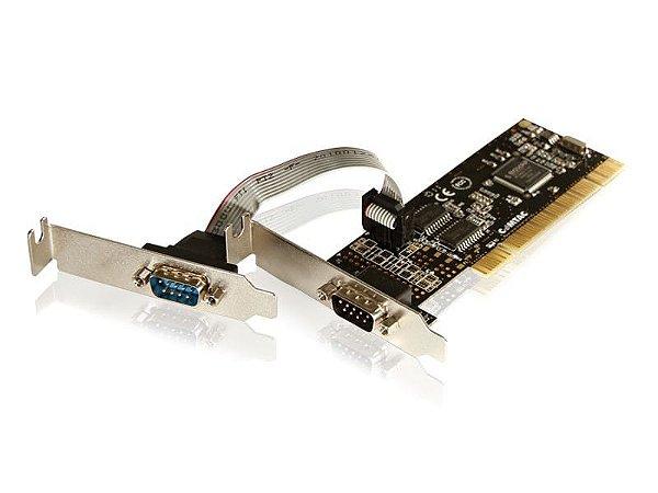 Placa PCI Low Profile - 2 portas Seriais - COMTAC - 9044