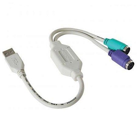 Kit 10 Adaptadores Conversor USB para PS2 - COMTAC - 9052