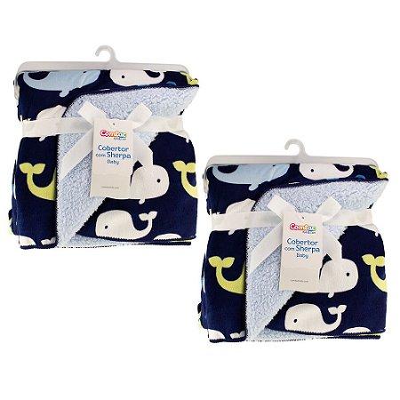 Kit Inverno Gêmeos 2 Cobertores Bebê Menino - 57151003