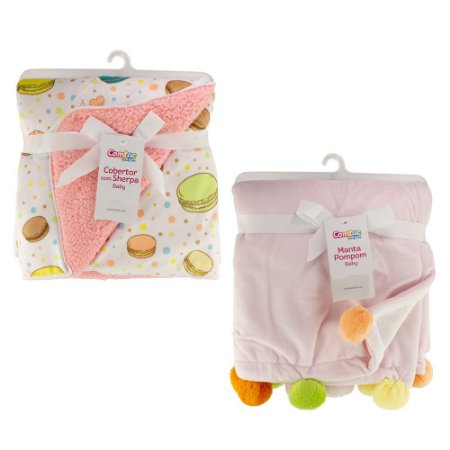 Kit Inverno Cobertor e Manta Bebê Menina - 57151002