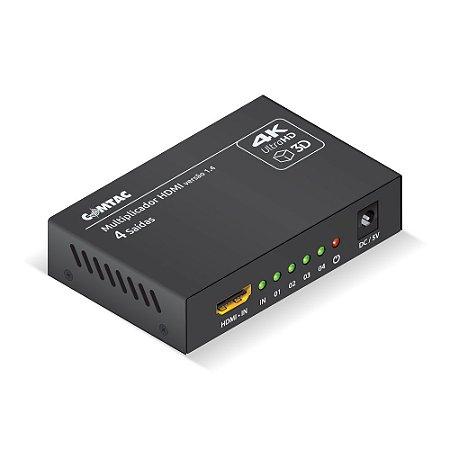 Multiplicador De Vídeo HDMI 4K Com 4 saídas Comtac 9378