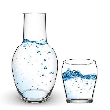 Jarra de Água Moringa com Copo de Vidro Cisper