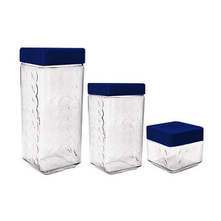 Conjunto 3 Potes Vidro Essence Multiuso Super Vedação Cisper